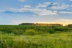 Sonnenuntergang in der Landschaft Lizenzfreies Stockfoto