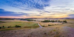Sonnenuntergang in der Landschaft von Spanien Stockbilder