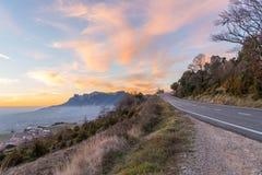 Sonnenuntergang in der Landseite von Spanien Lizenzfreies Stockbild