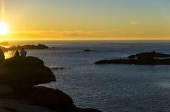 Sonnenuntergang der Liebhaber Stockfotos