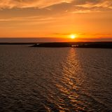 Sonnenuntergang in der Ostsee Stockfoto