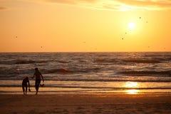 Sonnenuntergang in der Ostsee Lizenzfreie Stockfotografie