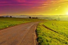 Sonnenuntergang in der Schweiz Lizenzfreies Stockbild