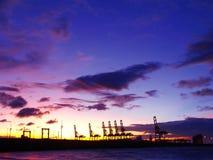 Sonnenuntergang in der Seeküste stockfotografie