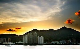 Sonnenuntergang der Stadt Stockbilder