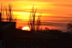 Sonnenuntergang in der Stadt Lizenzfreie Stockbilder