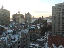 Sonnenuntergang in der Stadtmitte Lizenzfreies Stockfoto