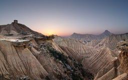 Sonnenuntergang an der Wüste Lizenzfreie Stockbilder