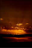 Sonnenuntergang in der Wolke in Tunesien Lizenzfreie Stockfotografie