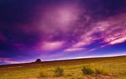 Sonnenuntergang des Lös1hochebeneporzellans Stockfoto