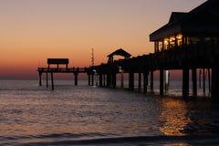 Sonnenuntergang des Pier-60 Lizenzfreie Stockfotografie