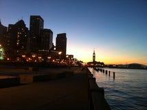 Sonnenuntergang des Pier-14 SF Lizenzfreies Stockbild