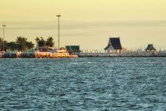 Sonnenuntergang des Strandes Stockfotos