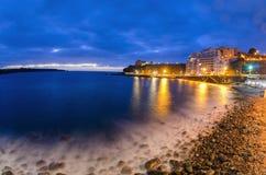 Sonnenuntergang an Diego Hernandez-Strand im La Caleta, Adeje, Teneriffa, S Stockfotos