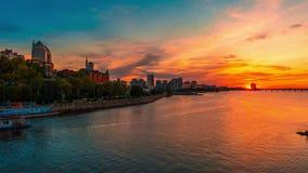 Sonnenuntergang in Dnepropetrovsk stock video