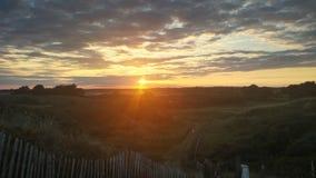 Sonnenuntergang Donabate Portrane Corballis Lizenzfreie Stockbilder