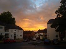 Home. Sonnenuntergang in Dortmund Stock Photo