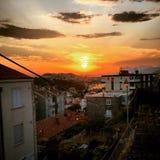 Sonnenuntergang Dubrovnik Lizenzfreie Stockfotos