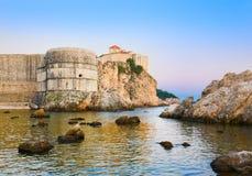 Sonnenuntergang in Dubrovnik, Kroatien Lizenzfreies Stockfoto