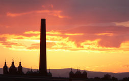 Sonnenuntergang Edinburgh Schottland Lizenzfreie Stockbilder