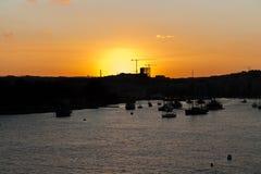 Sonnenuntergang ein Malta lizenzfreies stockbild