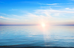 Sonnenuntergang - eine ruhige Landschaft Lizenzfreies Stockfoto