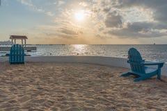 Sonnenuntergang an einem Cozumel-Erholungsort Lizenzfreie Stockbilder