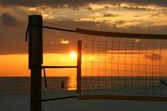 Sonnenuntergang in einem Netz Lizenzfreie Stockbilder
