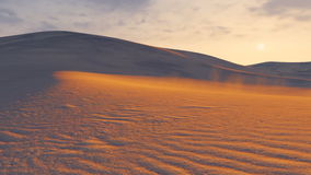 Sonnenuntergang in einer Sandwüste Geschossen auf Kennzeichen II Canons 5D mit Hauptl Linsen stock video