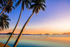 Sonnenuntergang EL Nido lizenzfreie stockfotografie