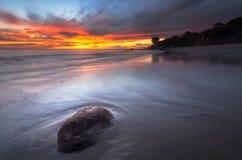 Sonnenuntergang an EL-prescador lizenzfreie stockbilder