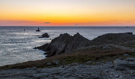 Sonnenuntergang am Ende der Welt Lizenzfreie Stockfotos