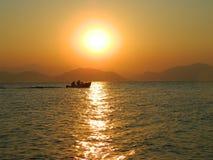 Sonnenuntergang in Evia-Insel 4 stockbilder