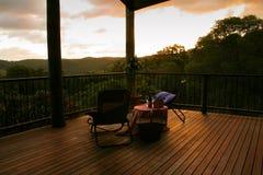 Sonnenuntergang für zwei Stockfotos