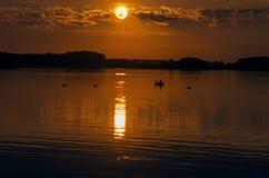 Sonnenuntergang-Fahrt Lizenzfreie Stockbilder