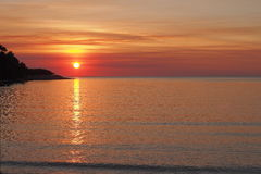Sonnenuntergang an Fannie-Bucht stockfotos