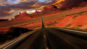 Sonnenuntergang-Fantasie-Bild des Denkmal-Tales Lizenzfreies Stockbild