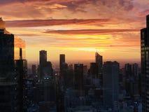Sonnenuntergang-Farben stockbild
