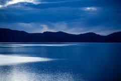Sonnenuntergang farbige Wolken über dem Tahoe Lizenzfreie Stockfotografie