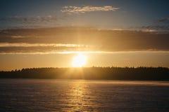 Sonnenuntergang am 14. Februar 2017 Stockbild