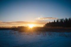 Sonnenuntergang am 14. Februar 2017 Stockbilder