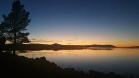 Sonnenuntergang in Femund Lizenzfreie Stockbilder