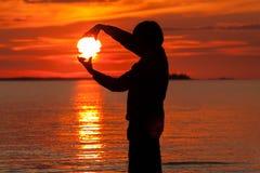 Sonnenuntergang in Finnland Lizenzfreie Stockfotografie