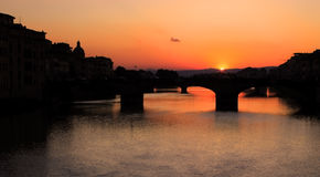 Sonnenuntergang in Florenz Lizenzfreie Stockfotos