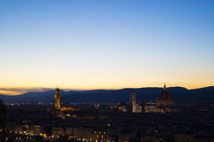 Sonnenuntergang in Florenz lizenzfreie stockbilder