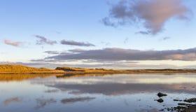 Sonnenuntergang Fluss Lossie November Lizenzfreies Stockbild