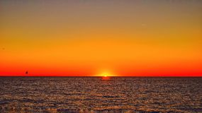 Sonnenuntergang Forte dei Marmi Lizenzfreies Stockbild