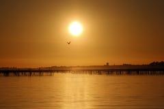 Sonnenuntergang in Frankreich Lizenzfreie Stockfotos