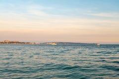 Sonnenuntergang in französischem Riviera Stockbild