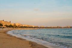 Sonnenuntergang in französischem Riviera Stockfoto